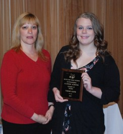 Sarah Kane, grade 10, receives Outstanding Academic Achiever Award for Music.